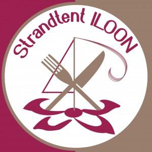 logo strandtent Iloon aangepaste kleuren